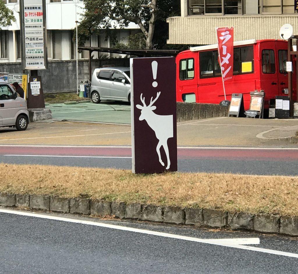 奈良マラソンでは鹿に注意