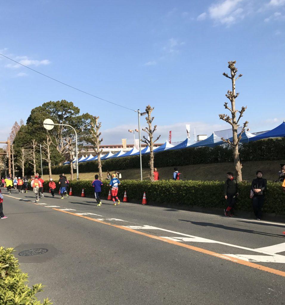 奈良マラソンの最後の登り坂