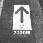 昭和記念公園ランニングコースの目印