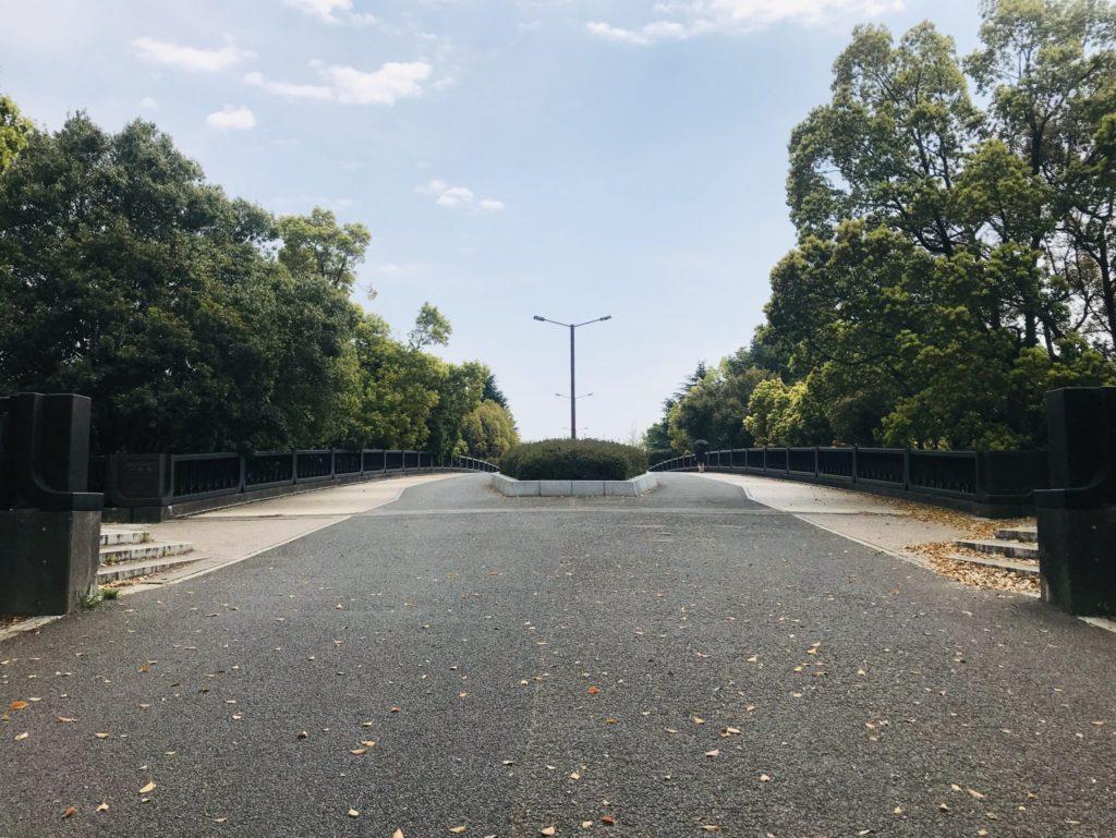 昭和記念公園内ランニングコースのアップダウン