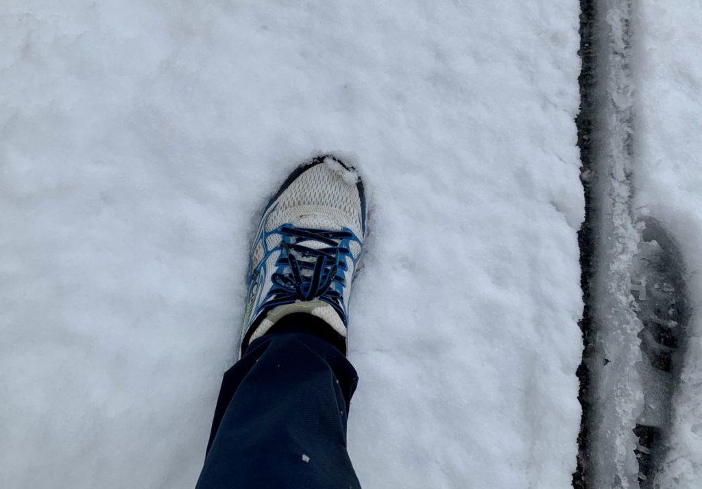 多摩湖積雪ランニング