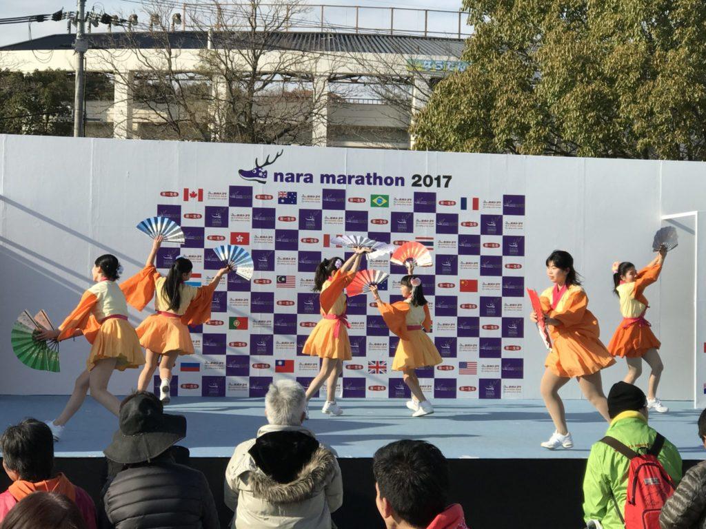 奈良マラソンのステージ、当たり前の光景