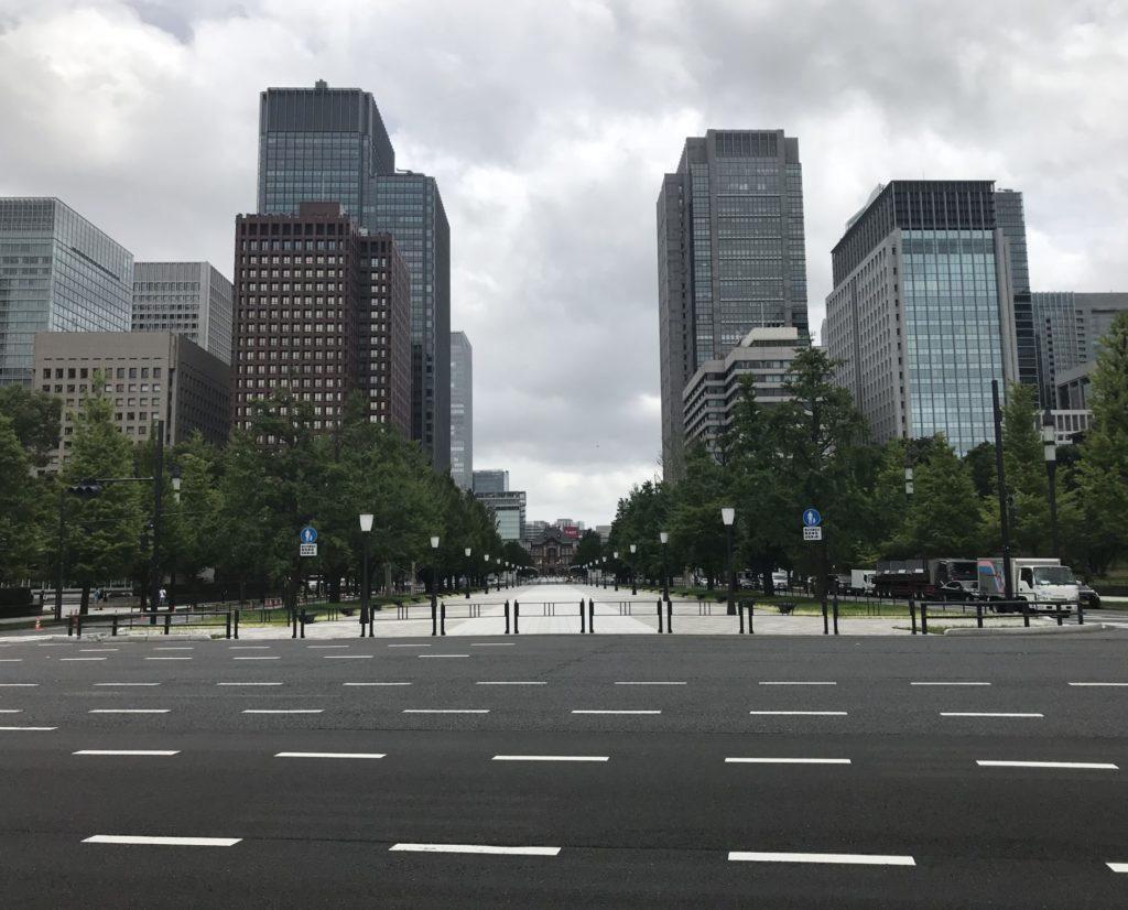 東京マラソンのゴール付近