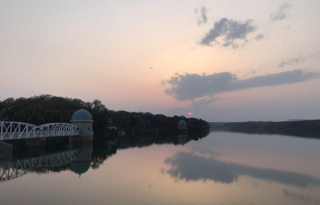ランニング中に見る夕日
