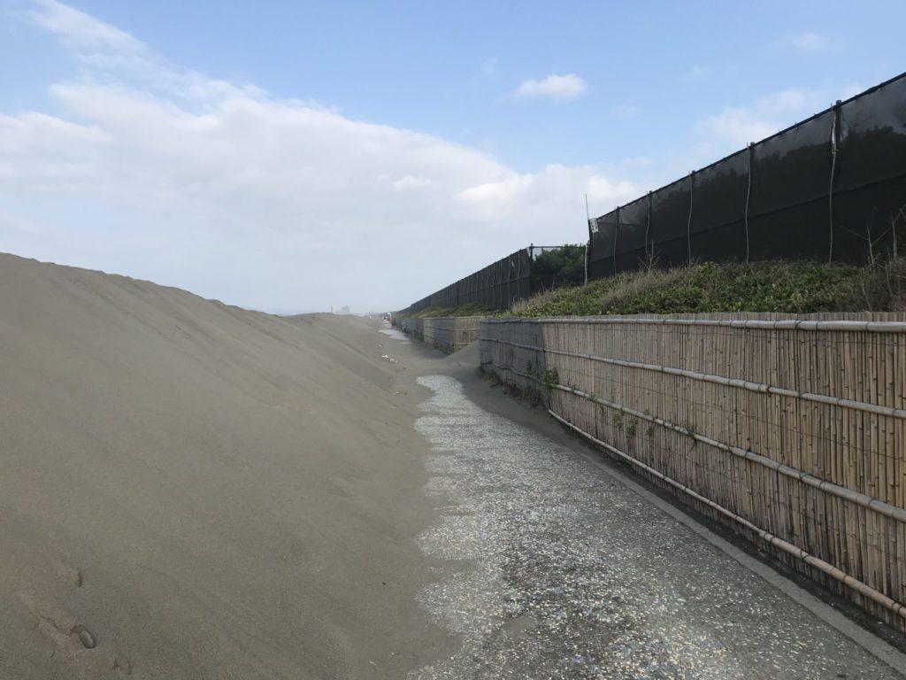 湘南サイクリングコースの堆砂問題