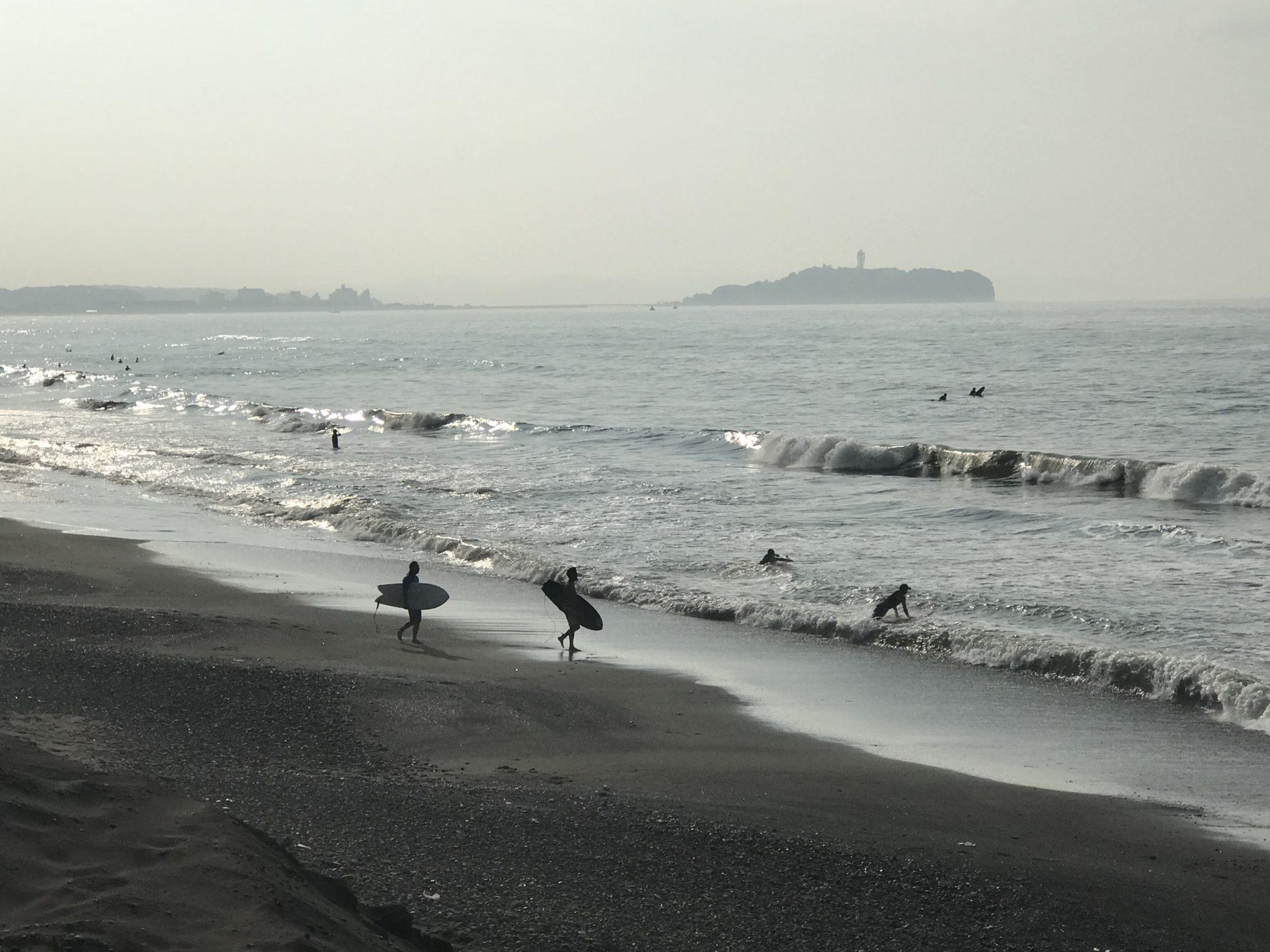 江ノ島が見えるランニング