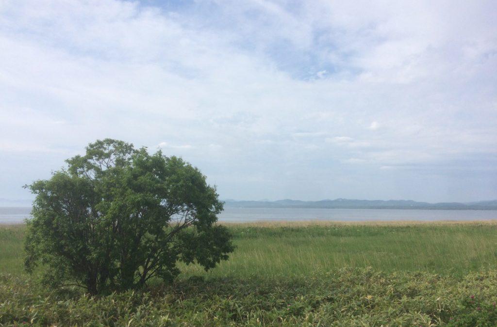 サロマ湖をウルトラコースから眺む