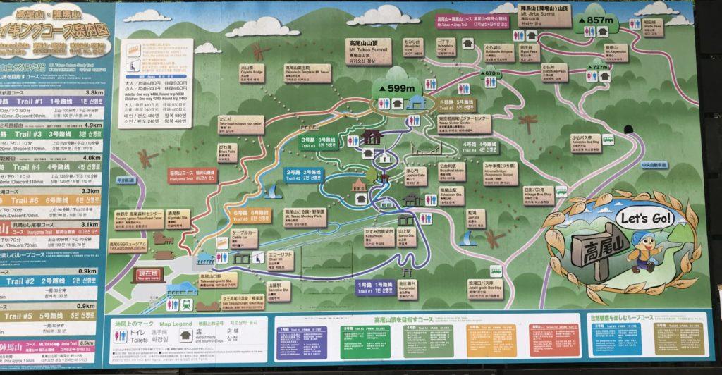 高尾山から陣馬山へトレイルランコース看板
