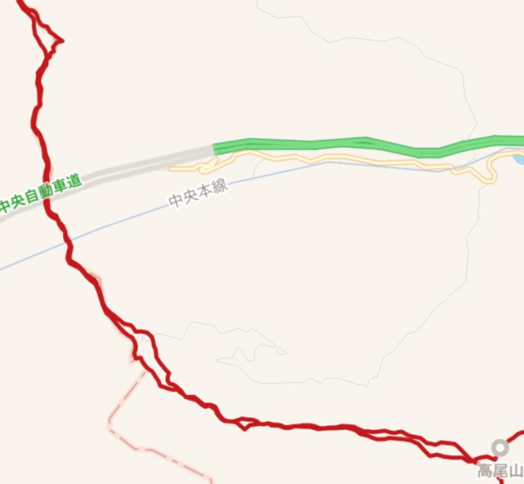 高尾山から陣馬山へトレイルランコースのまき道