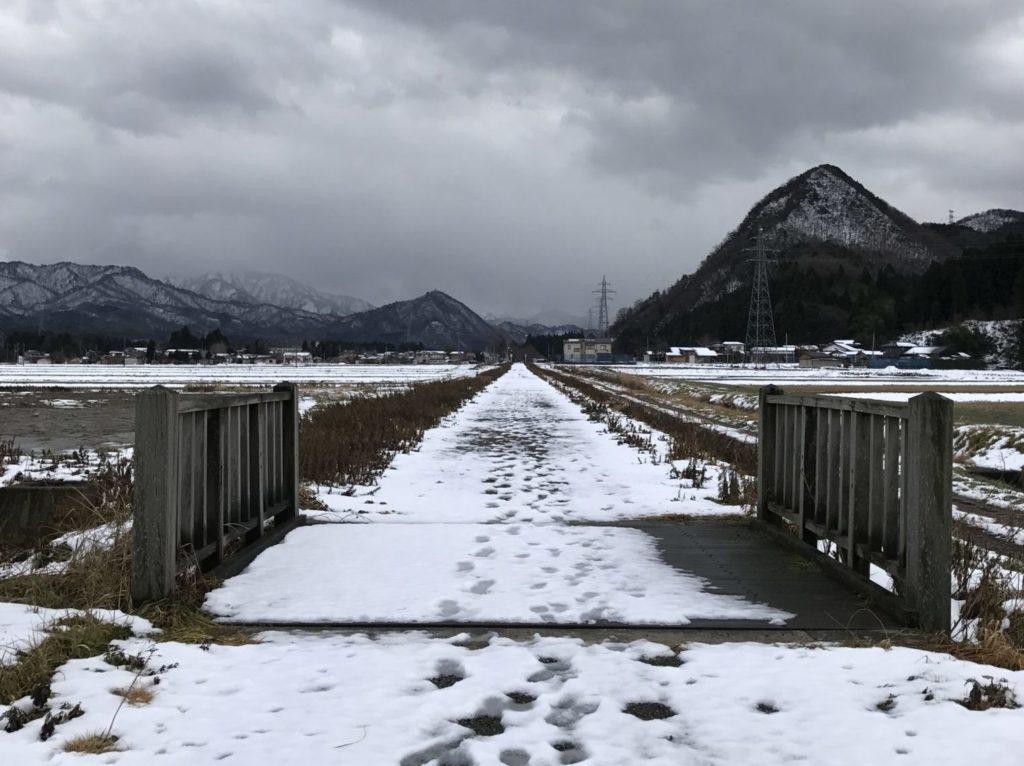 赤谷線サイクリングロードの冬