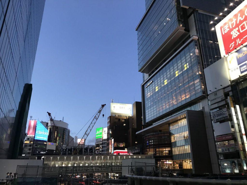 渋谷駅の再開発が進む