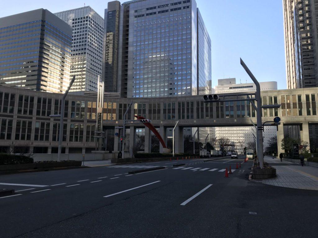 東京マラソンのスタート付近