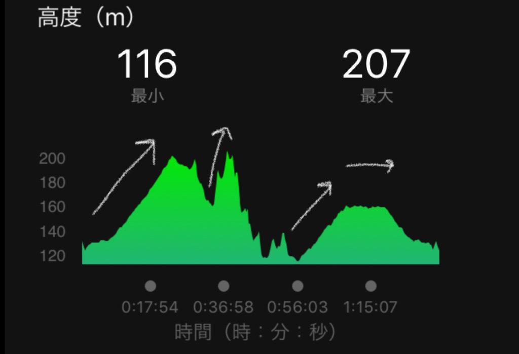 ラ・フランスマラソン高低図