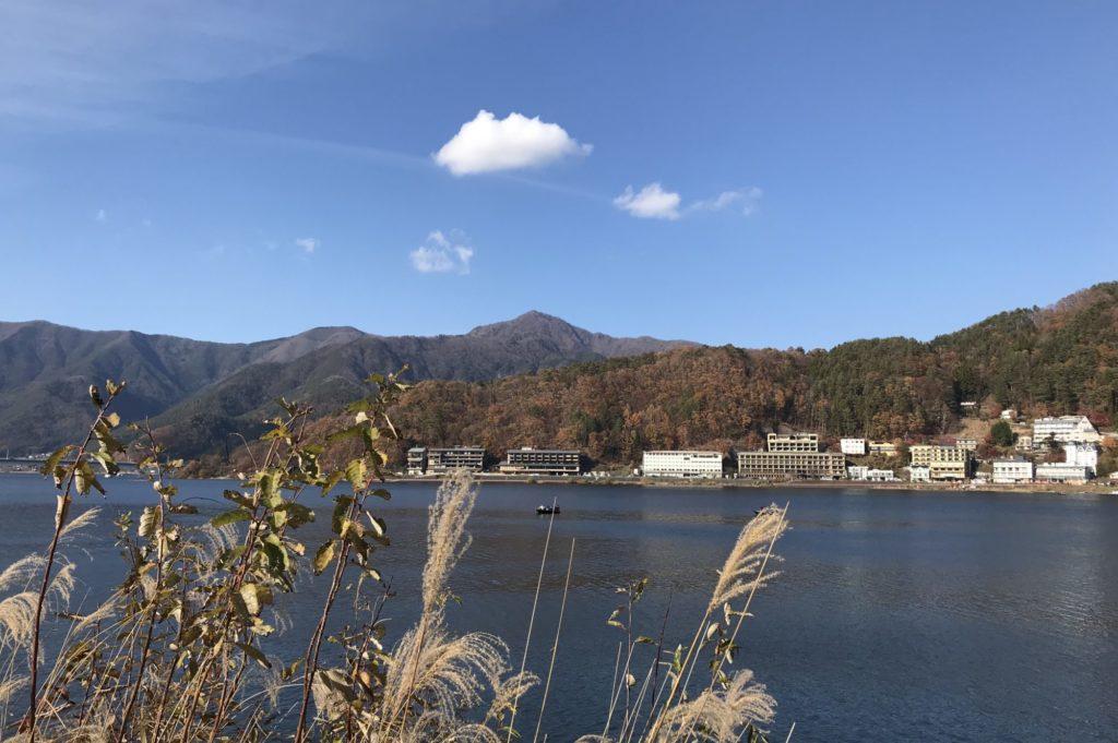 冬晴れの河口湖