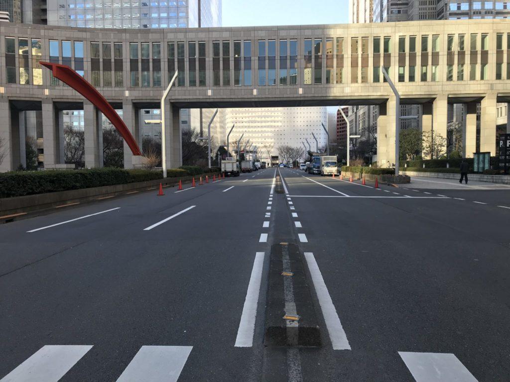 東京マラソンスタート地点