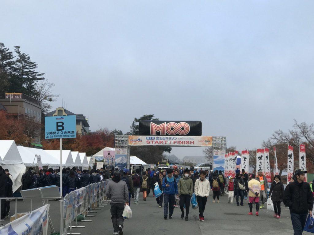 富士山マラソンのスタートブロック