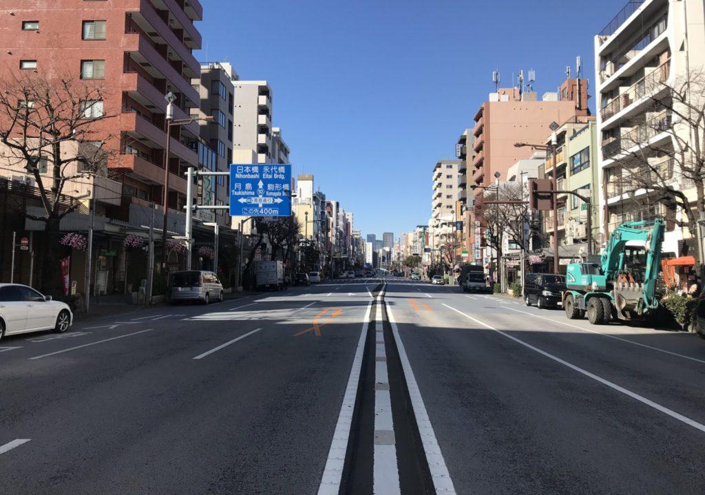 東京マラソンコースは外側に傾斜