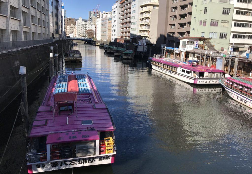 東京マラソンコースから見る屋台船