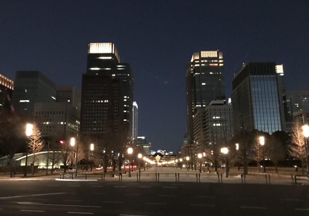 東京マラソンゴール付近を望む