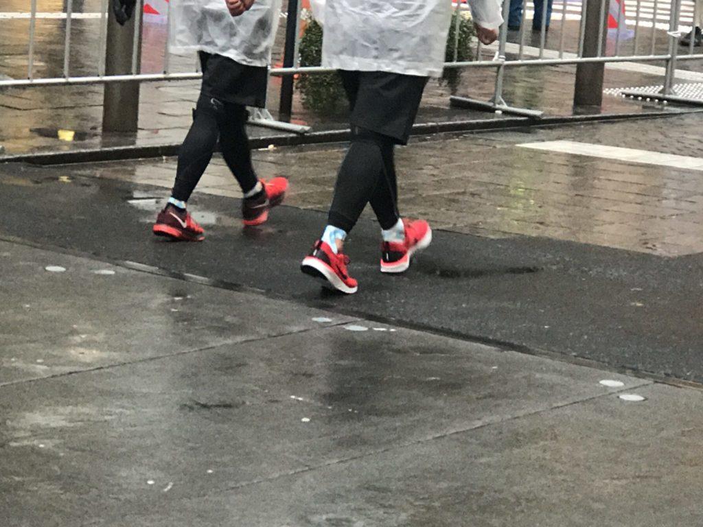 雨の東京マラソン