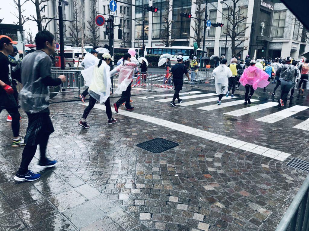 雨の東京マラソン2019