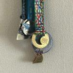 家に飾られた完走メダル