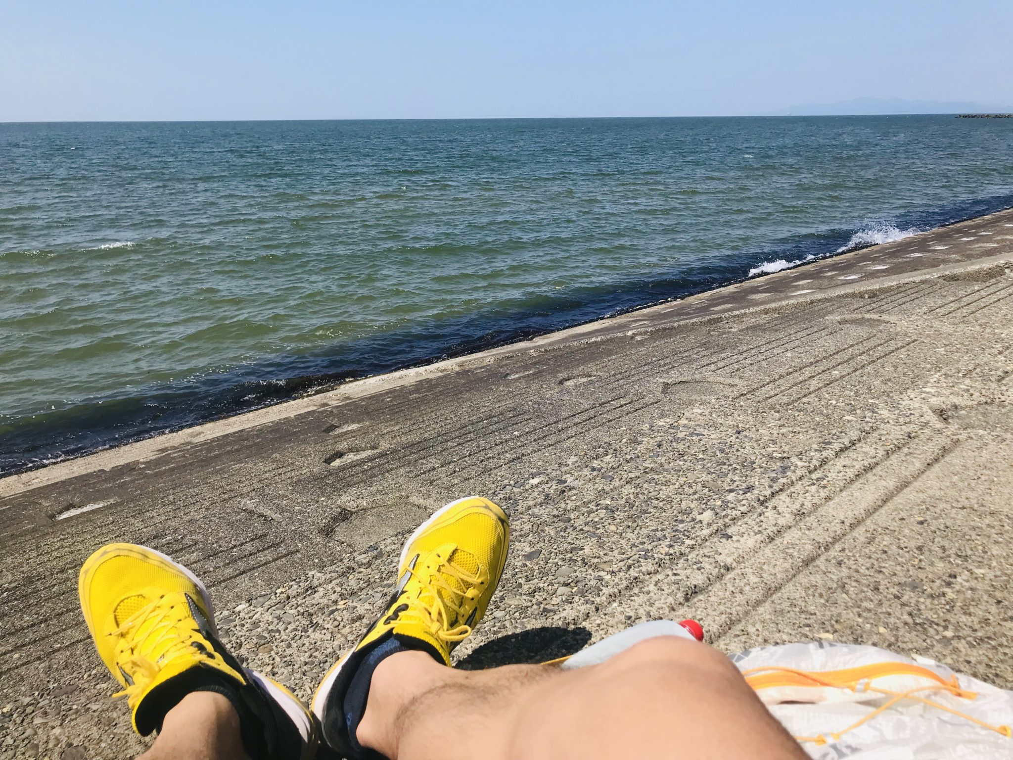 日本海へ向けて走った