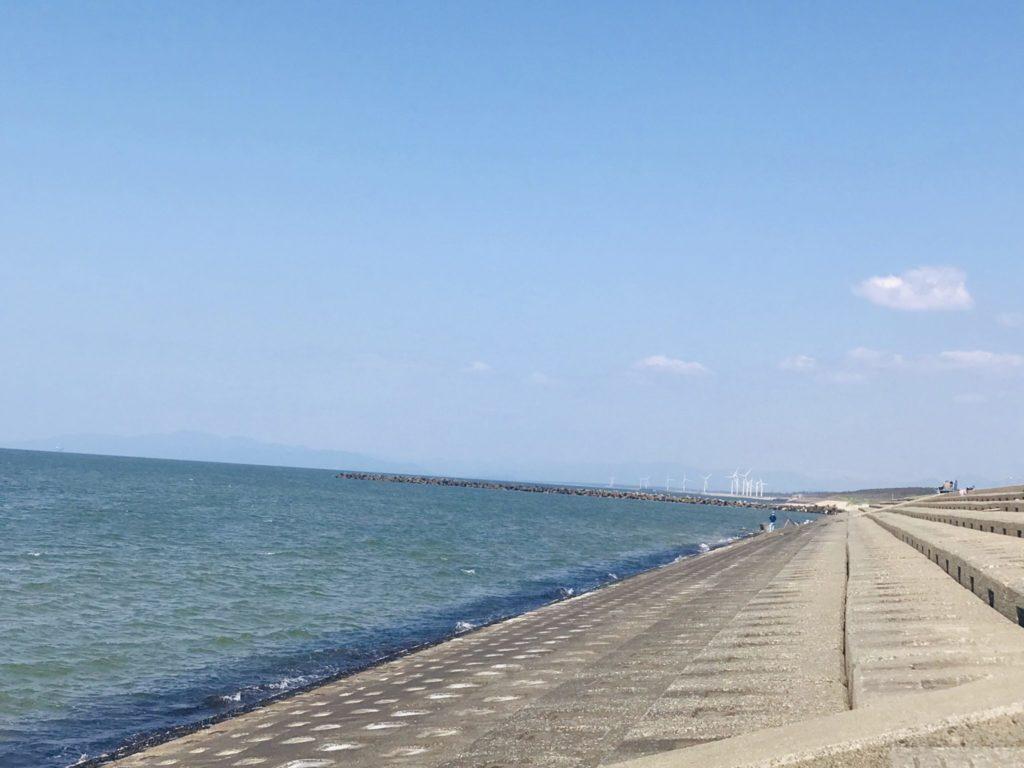 走って日本海に到着