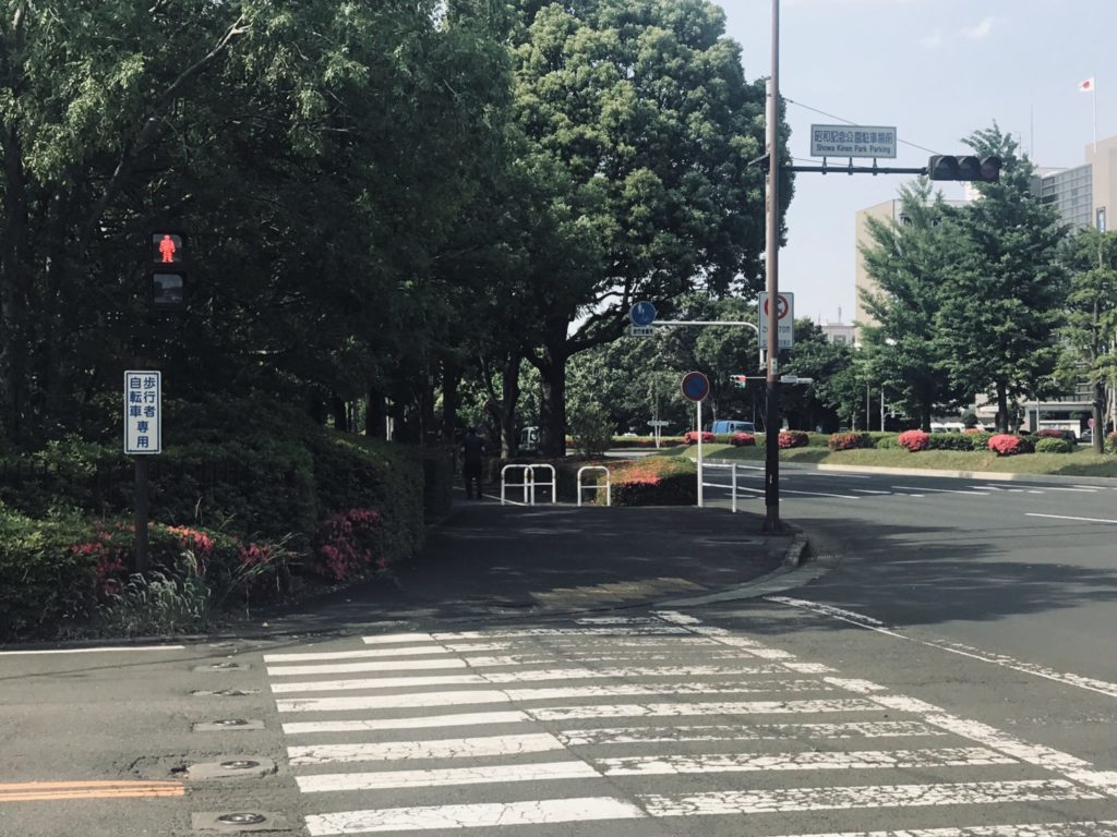 昭和記念公園外周コース唯一の信号