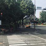 昭和記念公園外周コース唯一の信号待ち