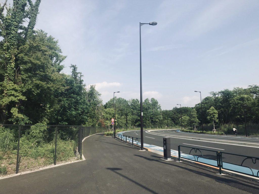 昭和記念公園外周ラン、走りやすい