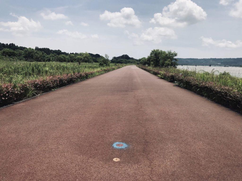 大井川マラソンの折り返し地点