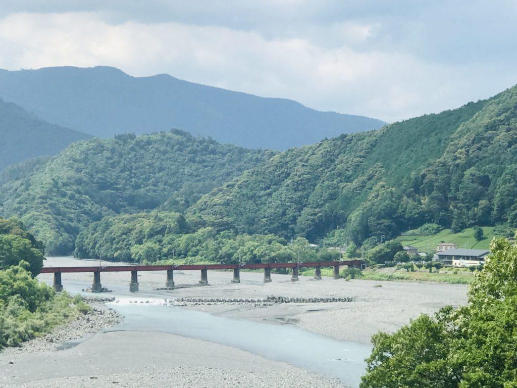 川根温泉の大井川鉄橋