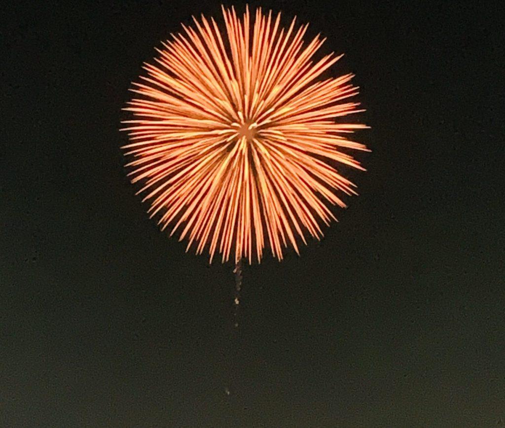 西武園の花火とランニング