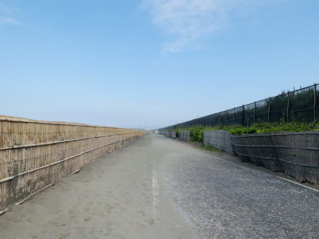湘南サイクリングコースの砂害が解消
