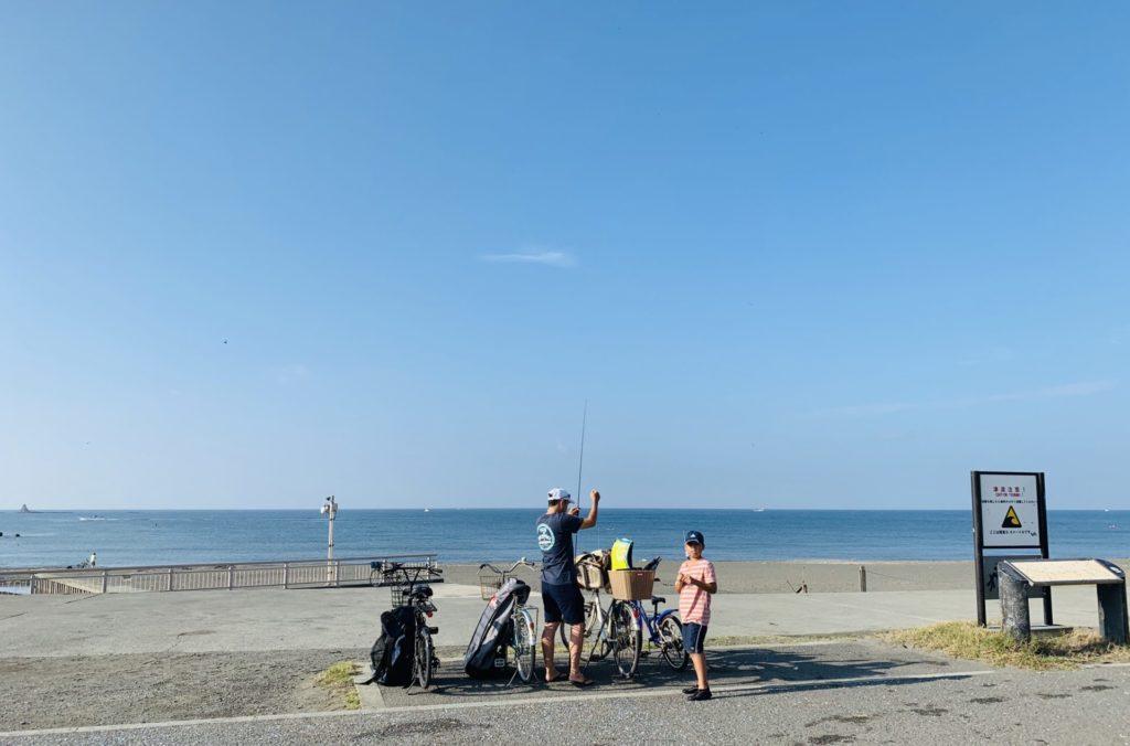 辻堂で見た親子で楽しむ真夏の釣り