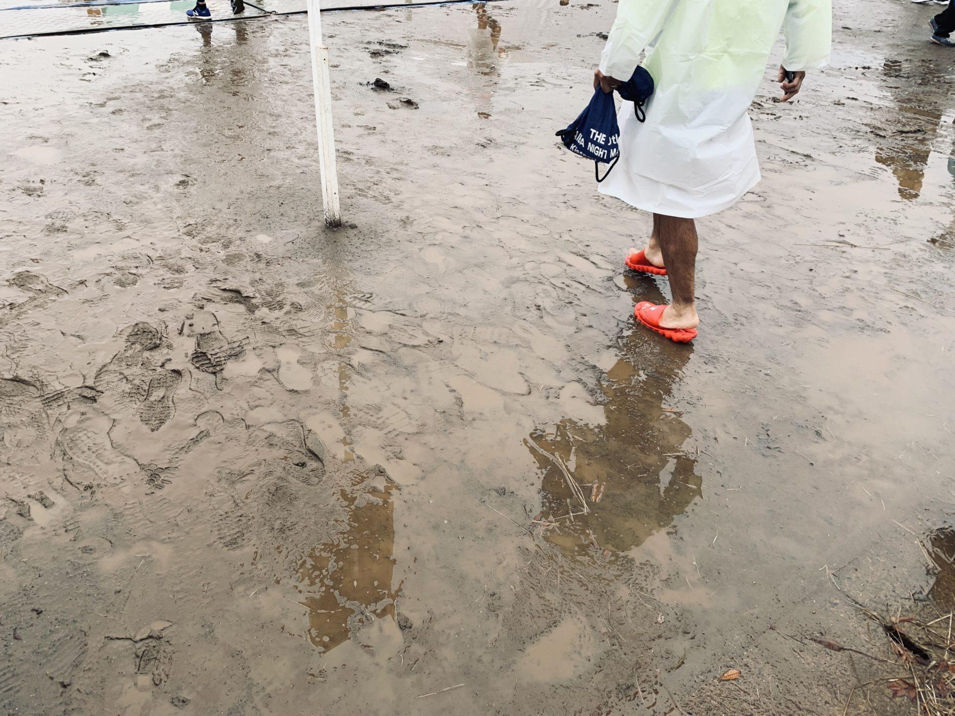 つくばマラソンの会場が泥沼化