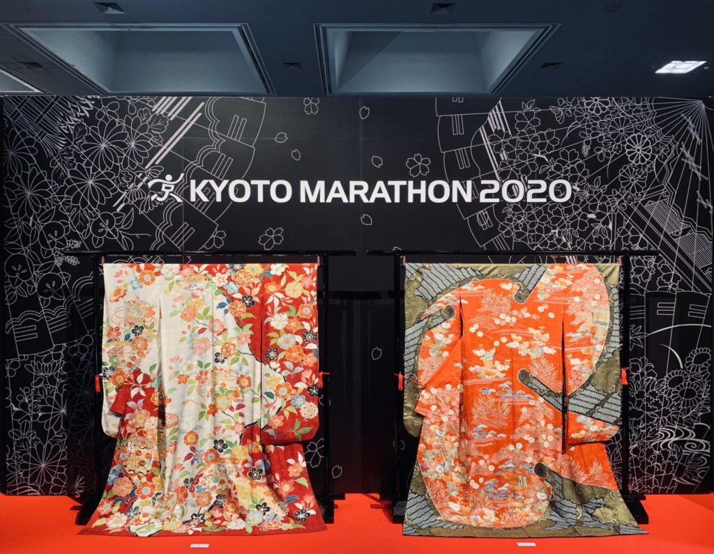 京都マラソンEXPOに振袖のおもてなし