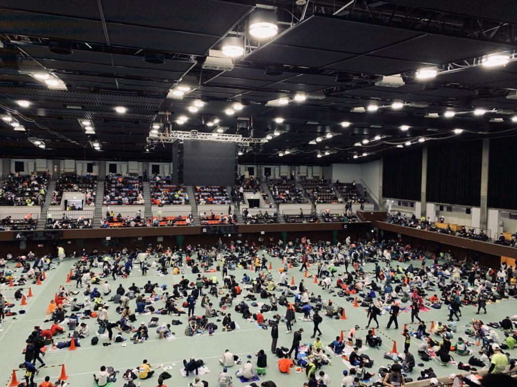 京都マラソン更衣室