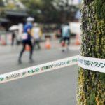 京都マラソンゴール前で最後の踏ん張り