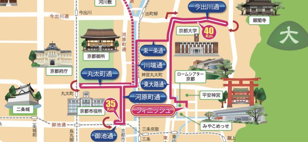 京都マラソンコースの終盤