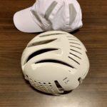 富士登山競走で配布されるヘルメット(ヘルメット(ミドリ安全 INC-100B)
