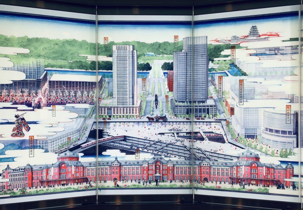 東京駅地下皇居口にある絵