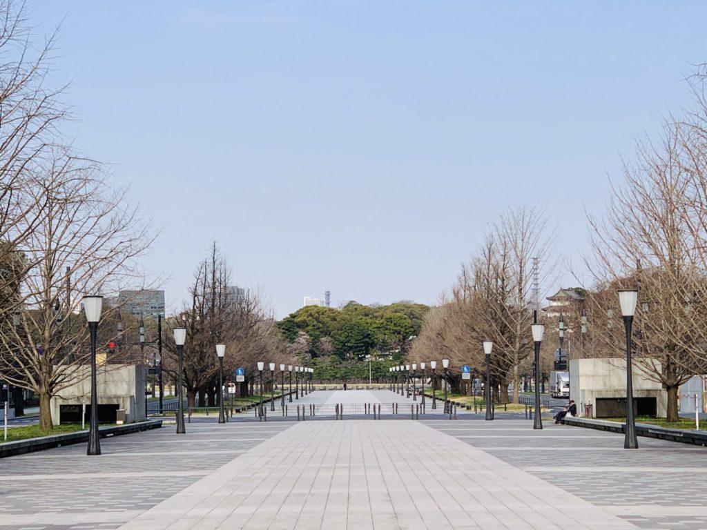 東京マラソン、ゴール前の直線