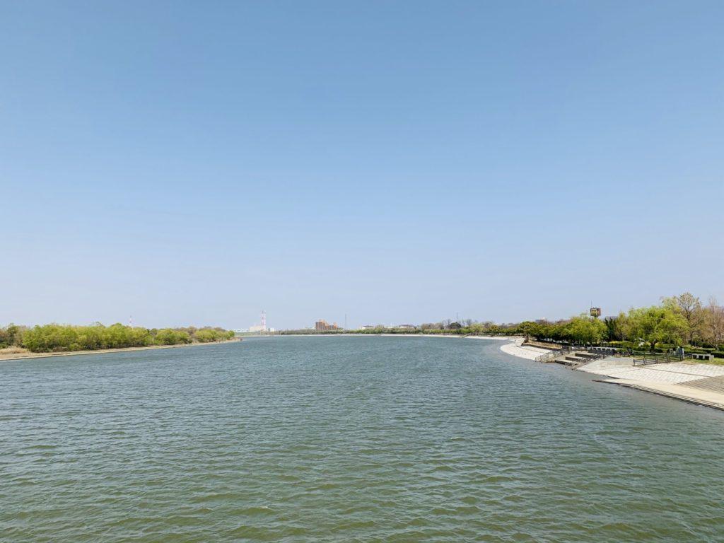 戸田マラソンin彩湖の会場までランニング