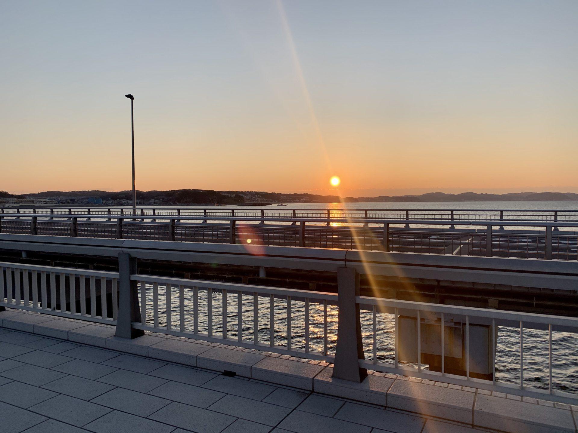 江ノ島から見た日の出