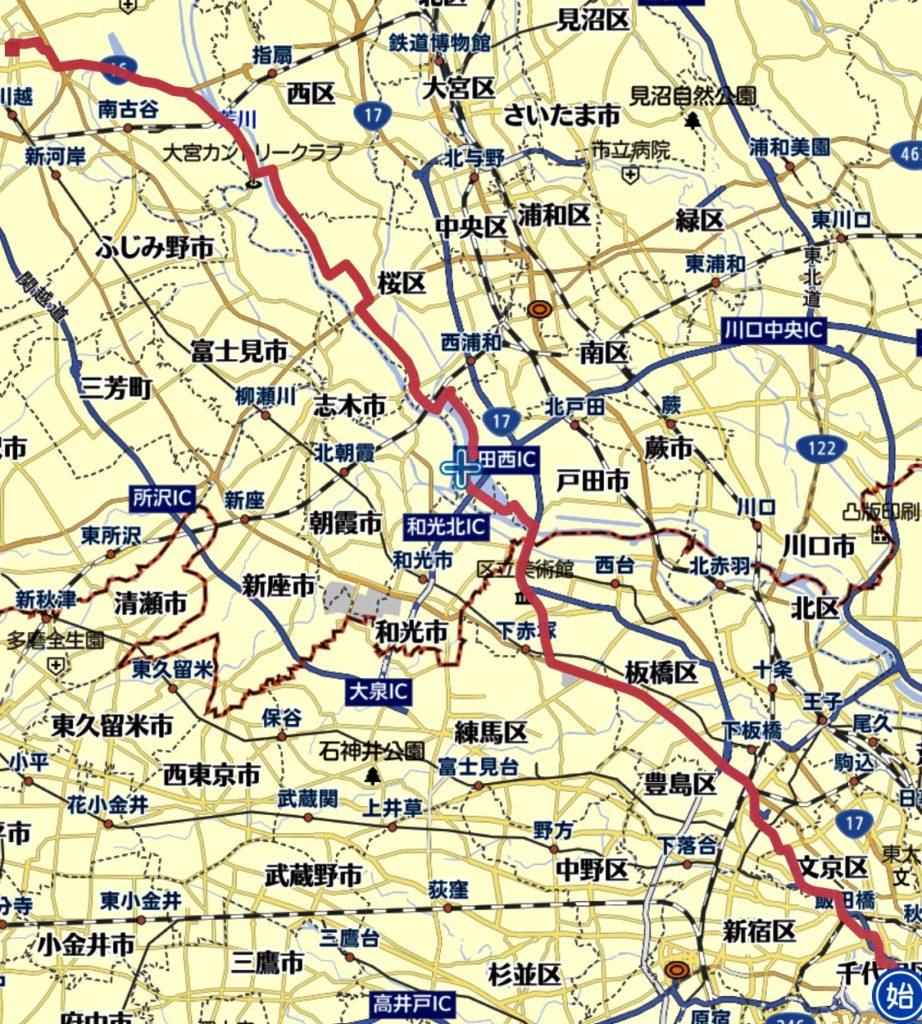 東京駅〜川越までランニング
