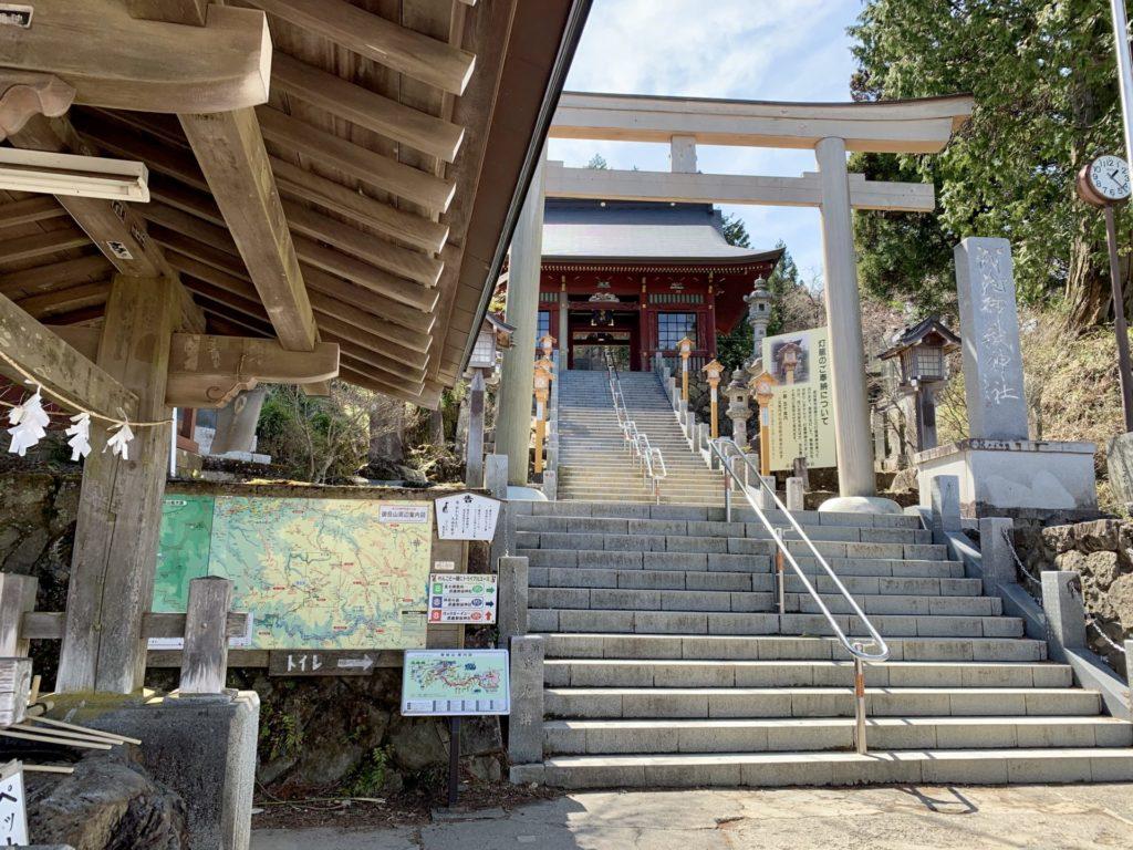 武蔵御嶽神社が坂道ランのゴール