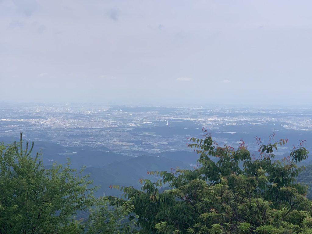 日の出山山頂からの眺望