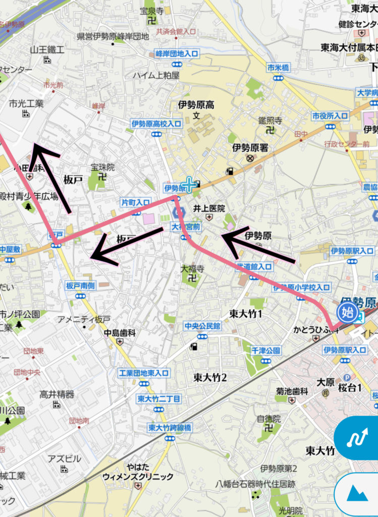 伊勢原駅から大山へジョギング